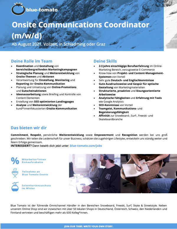 Onsite Communications Coordinator (m/w/d)