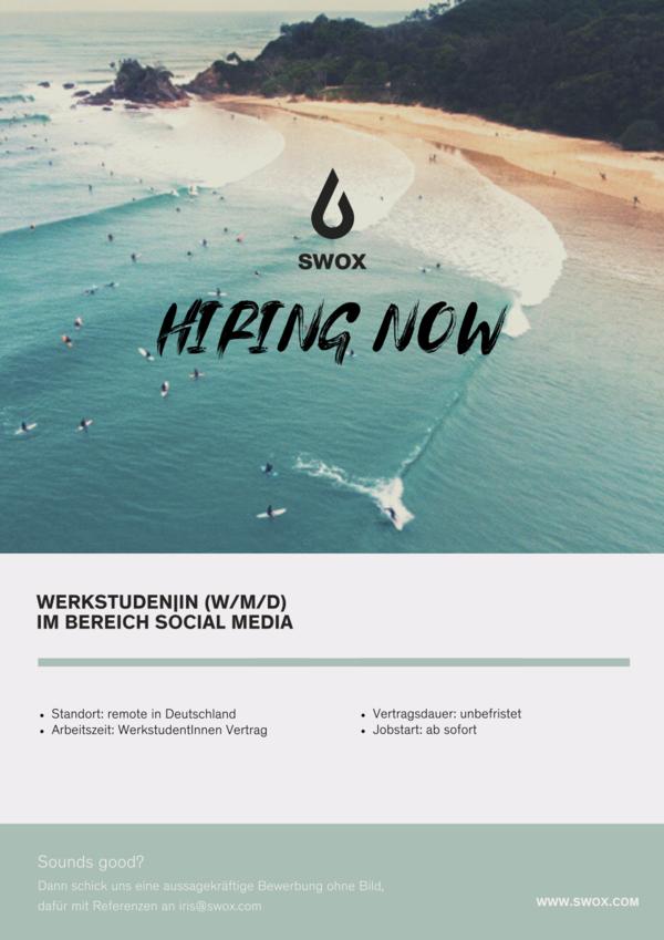 Werkstudent / in Social Media (M/W/D)