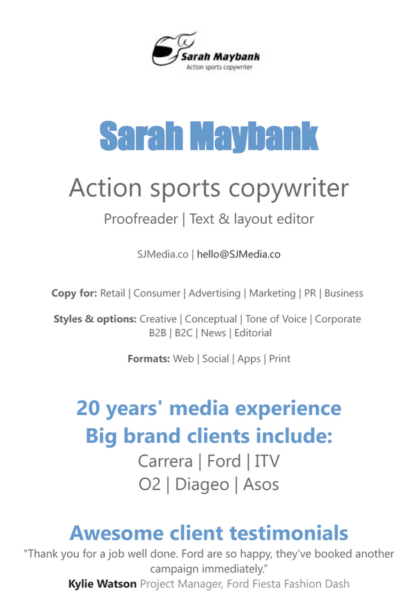 Copywriting, Proofreading, Text editing