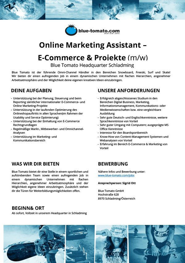 Online Marketing Assistant –  E-Commerce & Projekte (m/w)