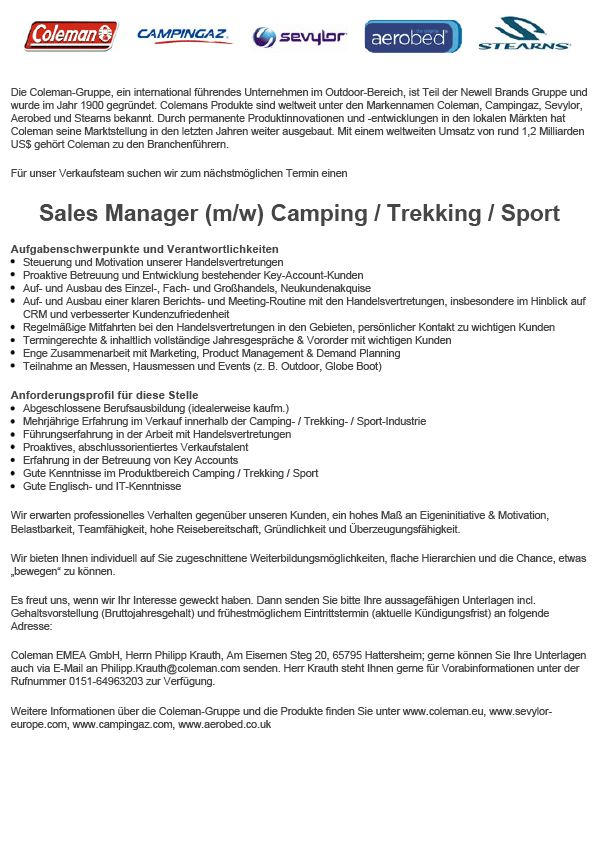 Key Account Manager / Sales Manager (m/w)