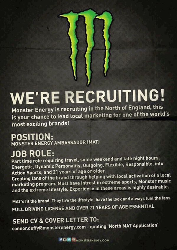 Monster Energy Ambassador
