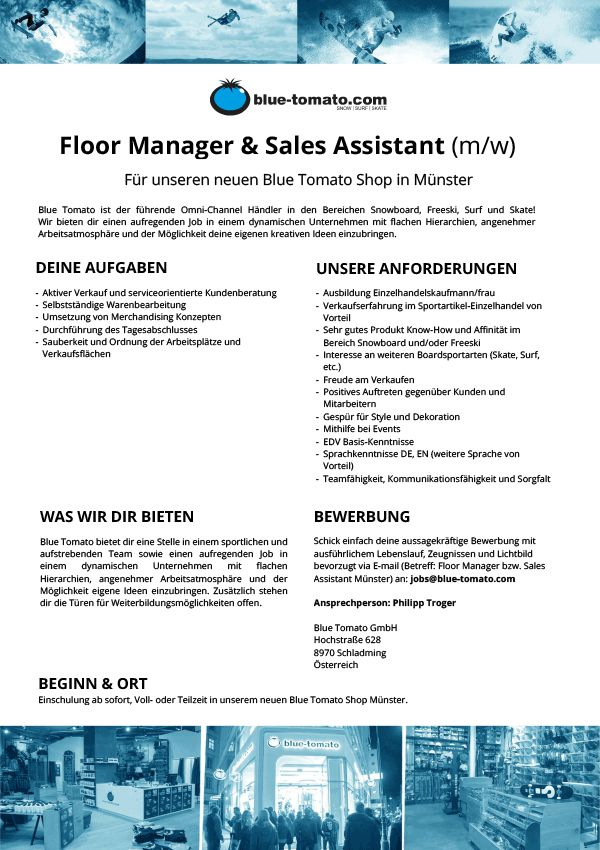 Floor Manager & Sales Assistant (m/w)