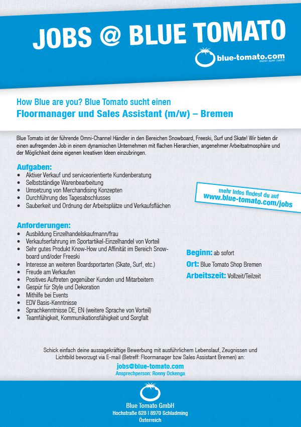 Floormanager und Sales Assistant