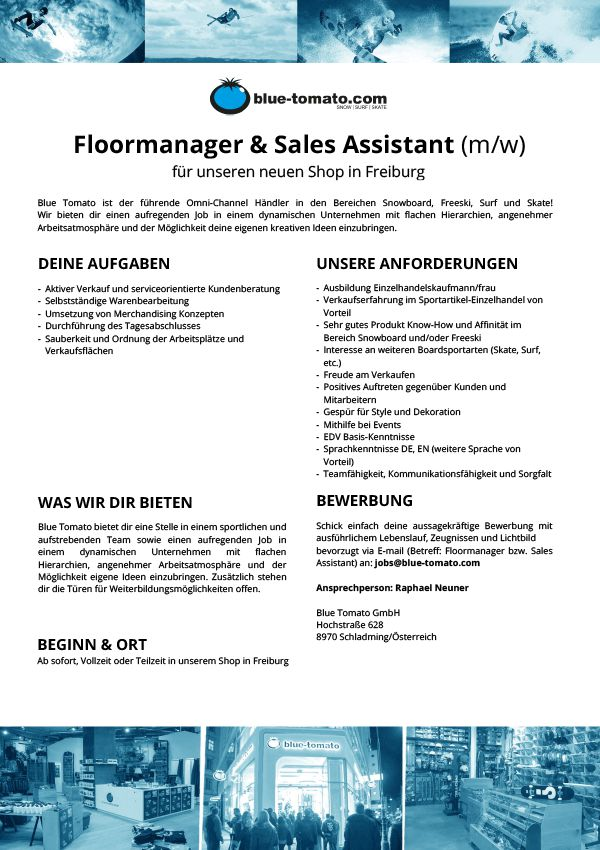 Floormanager and sales assistent