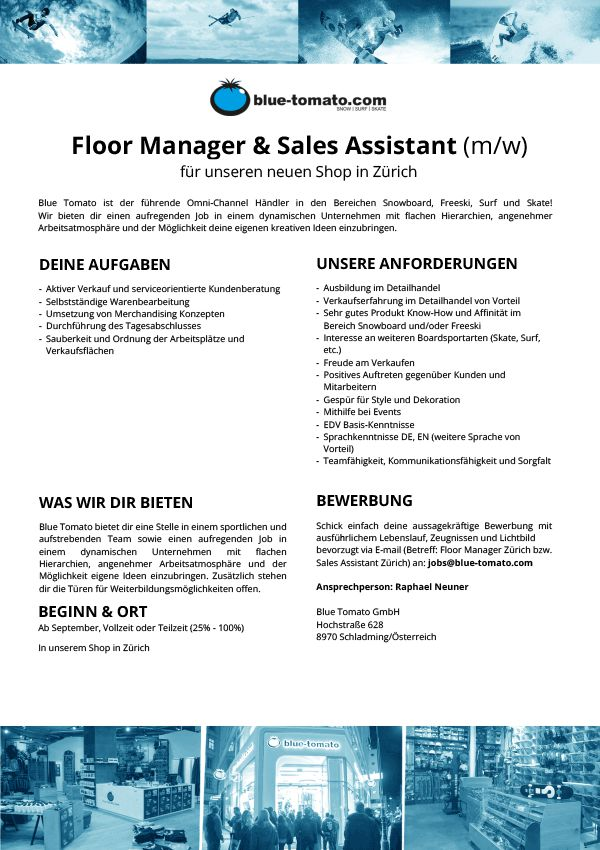 Floor Manager & Sales Assistant