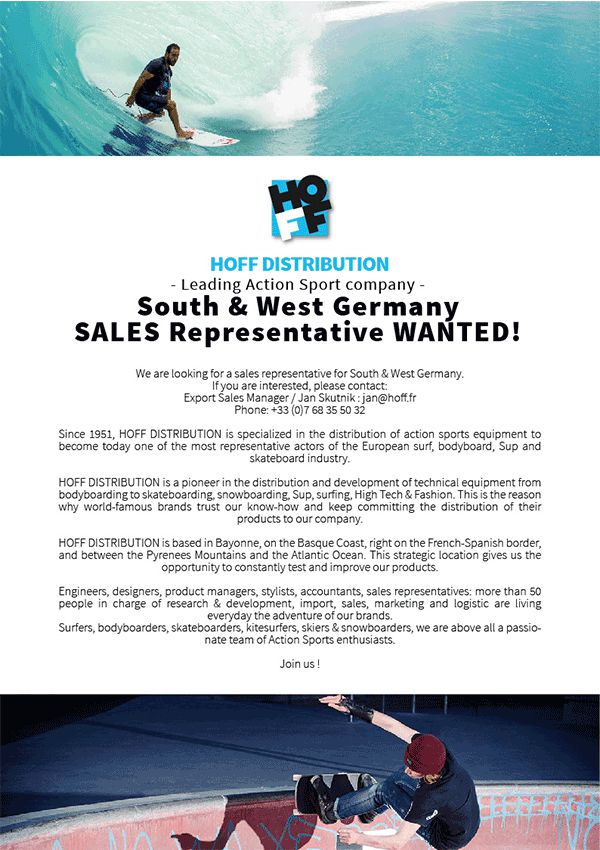 SOUTH & WEST Germany Sales Rep