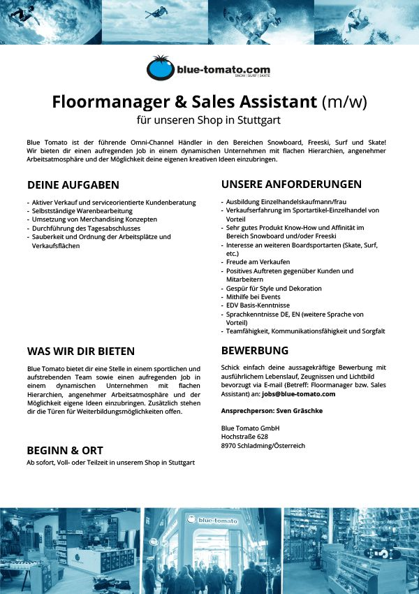 Floormanager & Sales Assistant