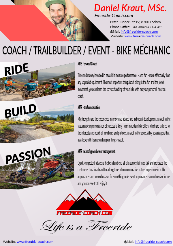 Eventmanagment, MTB Coach, Trailbuilder, ACTION MODEL