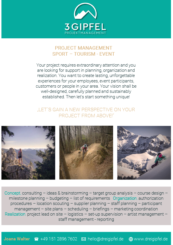 Project Management Sport, Tourism, Event