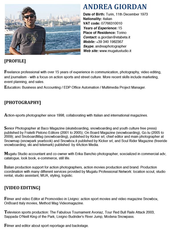Action sport photo- grapher, video editing