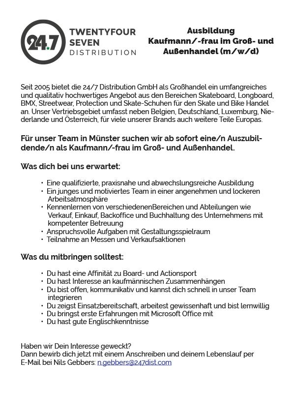 Ausbildung Kaufmann/-frau im Groß- und Außenhandel (m/w/d)