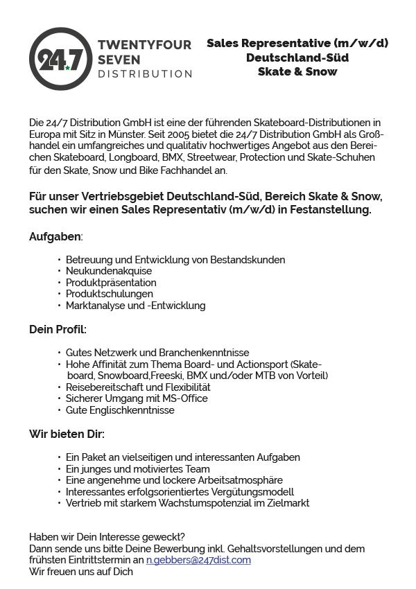 Sales Representative (m/w/d) Deutschland-Süd