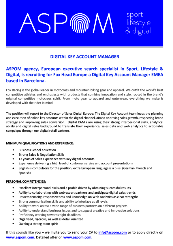 DIGITAL KEY ACCOUNT MANAGER