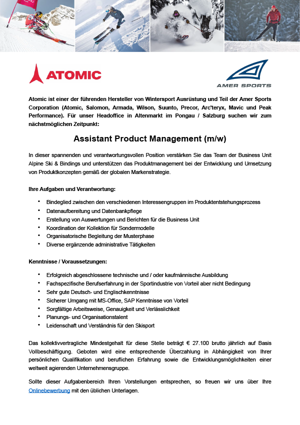 Assistant Product Management (m/w)