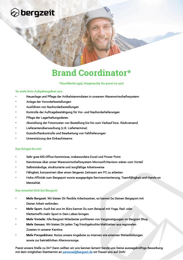 Brand Coordinator