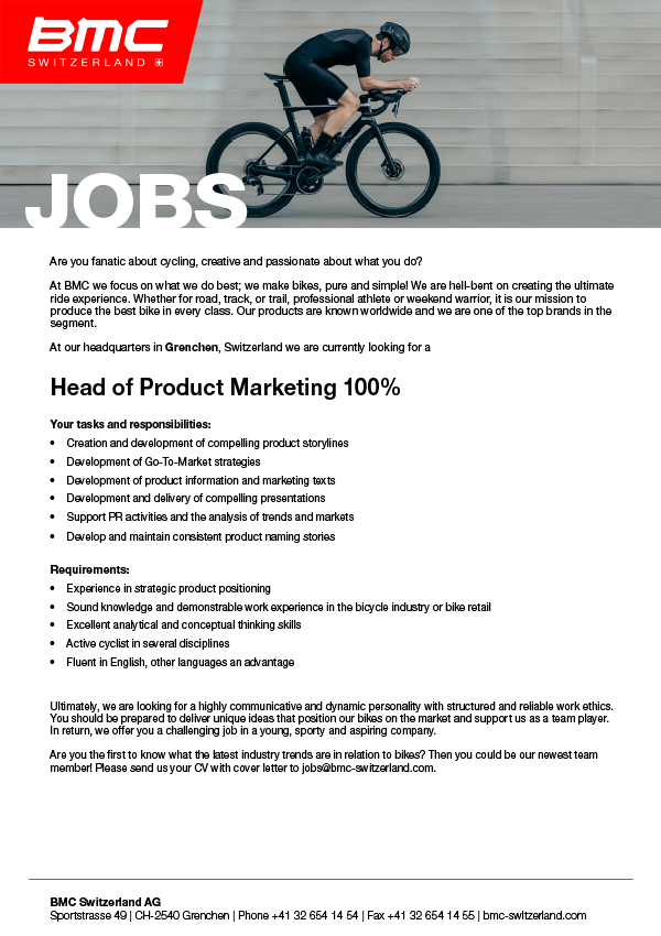 Head of Product Marketing