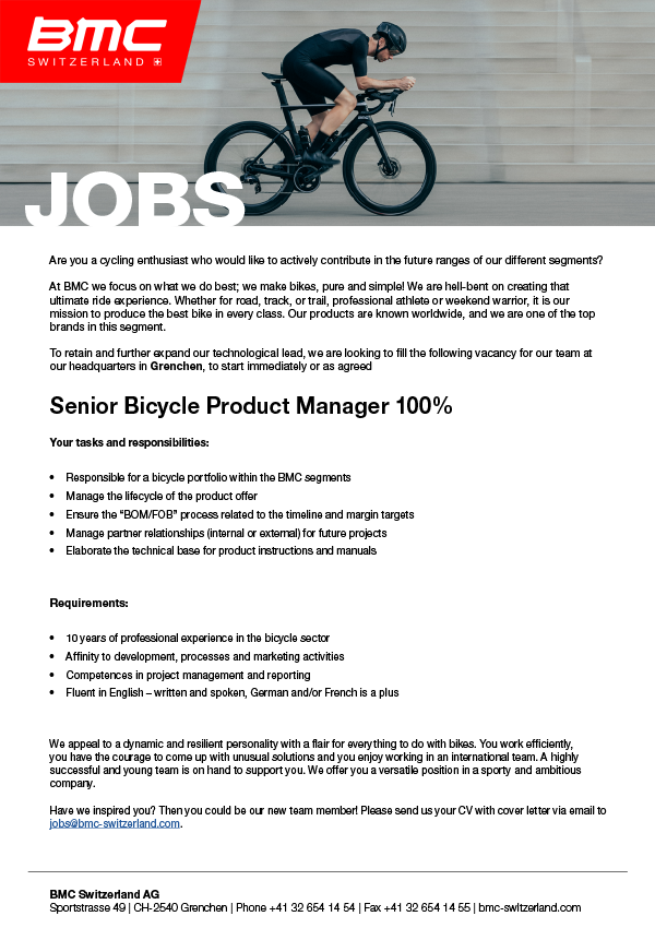 Senior Bicycle Product Manager (m/w/d)