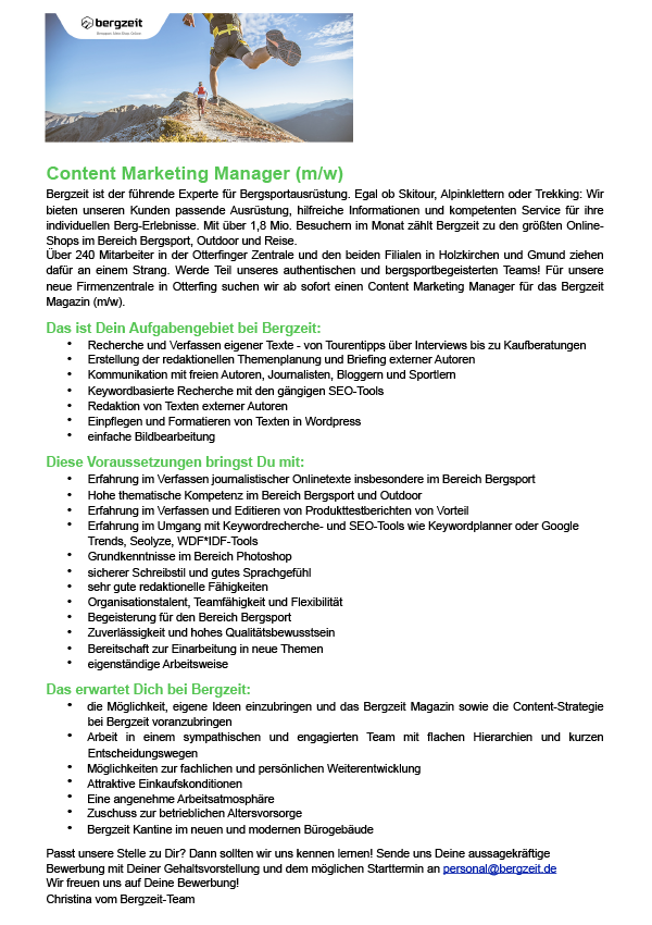 Content Marketing Manager (m/w)