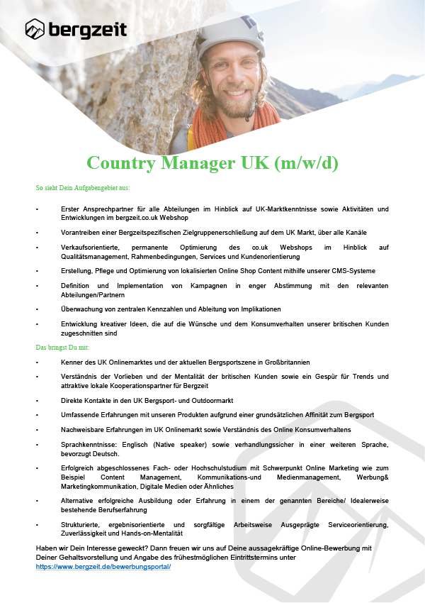 Country Manager UK (m/w/d)