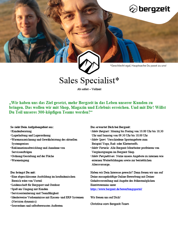 Sales Specialist (m/w/d)