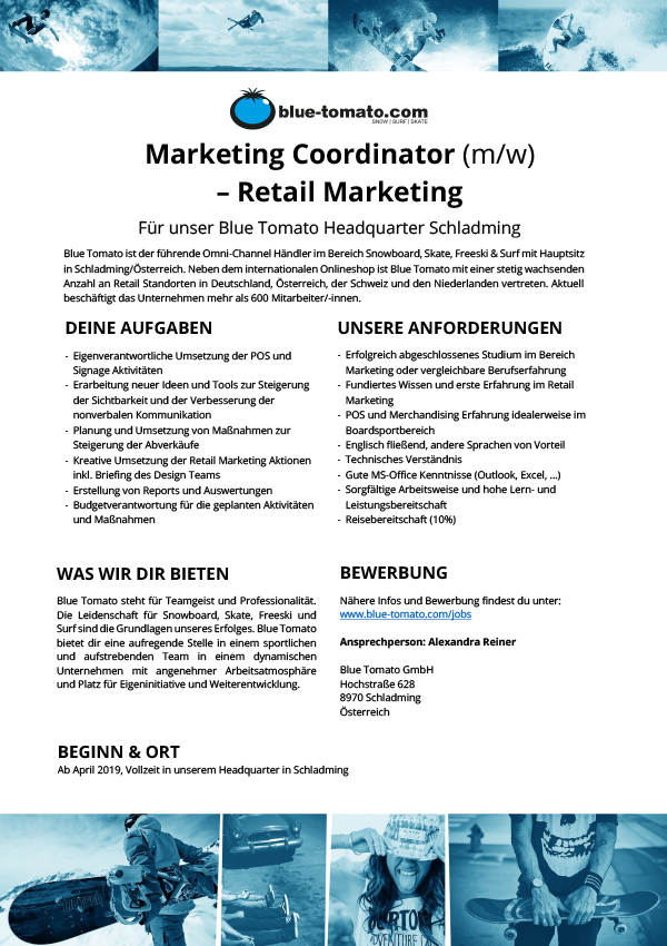 Marketing Coordinator (m/w) - Retail Marketing
