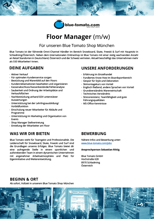 Floor Manager (m/w)