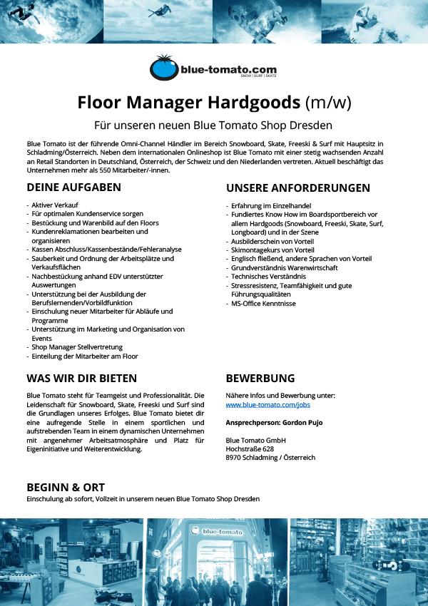 Floor Manager Hardgoods (m/w)