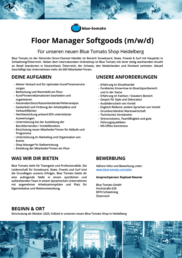 Floor Manager Softgoods (m/w/d)