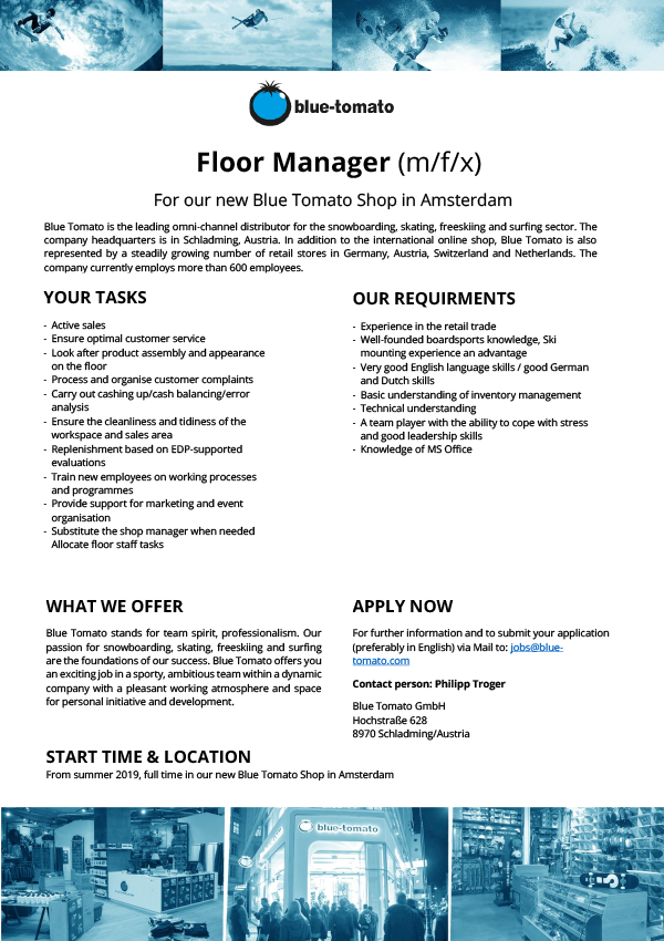 Floor Manager (m/f/x)