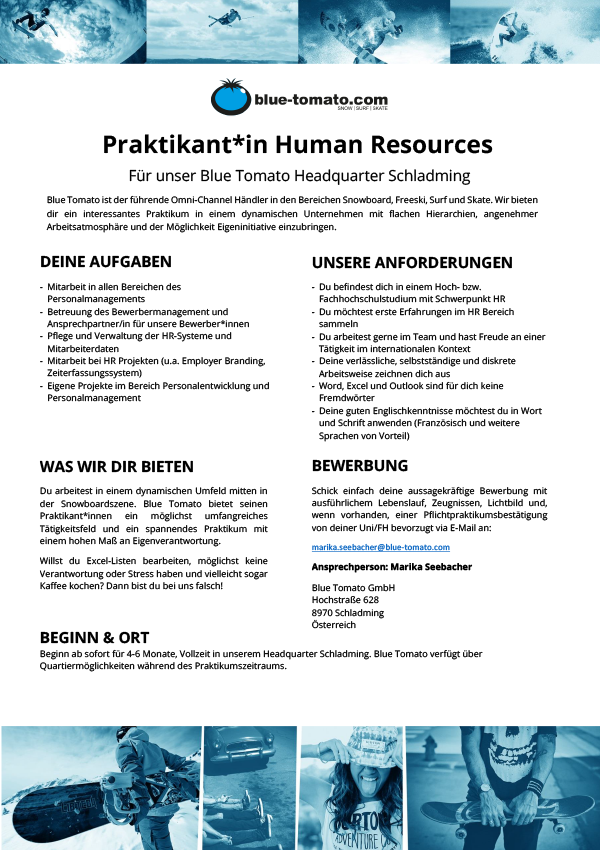 Praktikant*in Human Resources