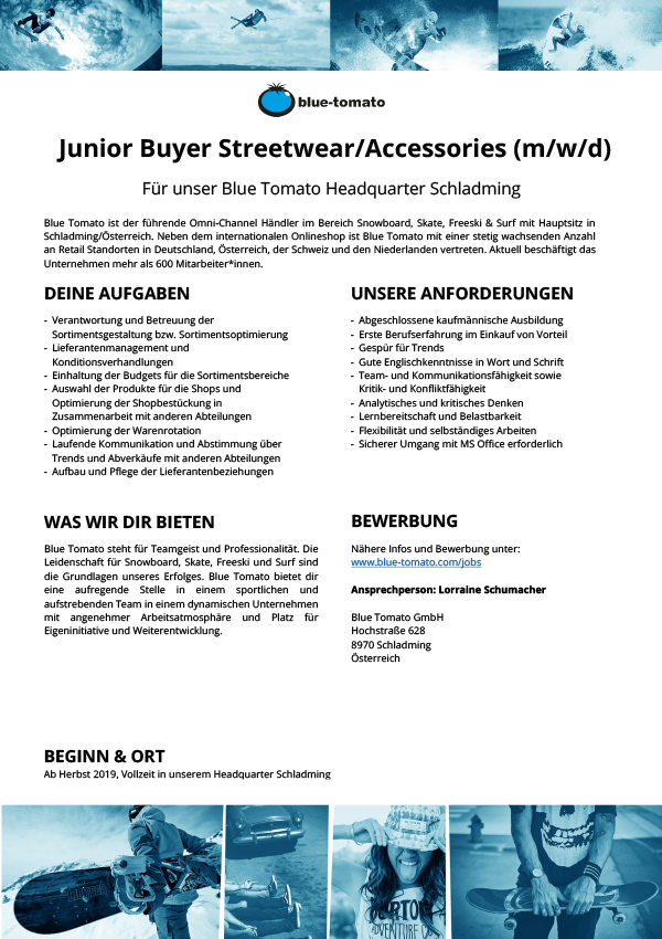 Junior Buyer Streetwear/ Accessories (m/w/d)