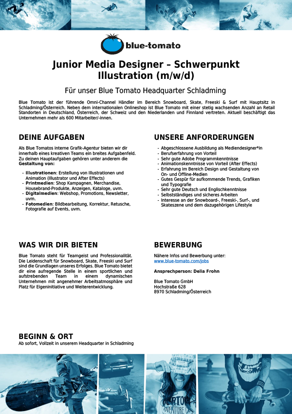 Junior Media Designer (m/w/d) - Schwerpunkt Illustration