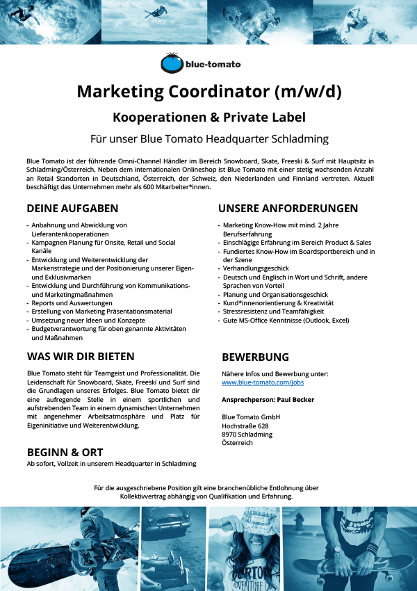 Marketing Coordinator (m/w/d) - Kooperationen & Private Label
