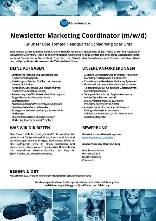 Newsletter Marketing Coordinator (m/w/d)