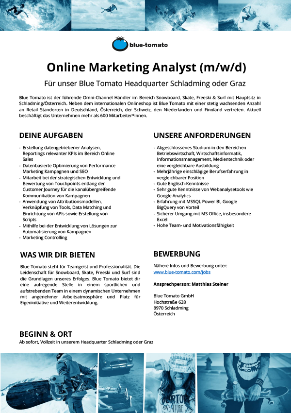 Online Marketing Analyst (m/w/d)