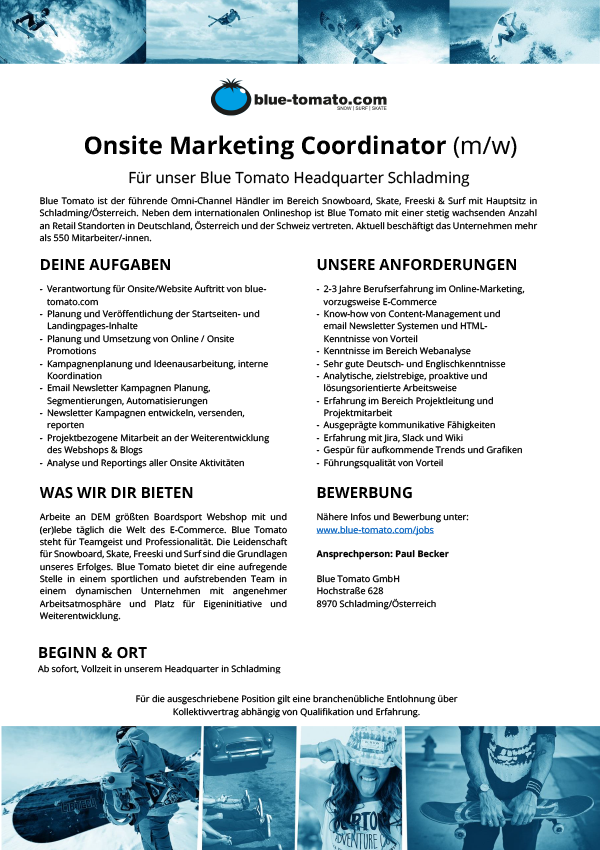 Onsite Marketing Coordinator (m/w)
