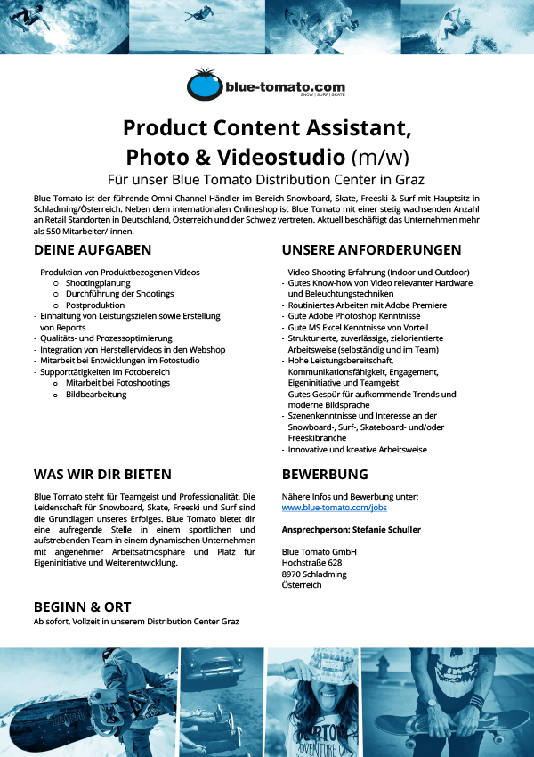 Product Content Assistant, Photo & Videostudio (m/w)