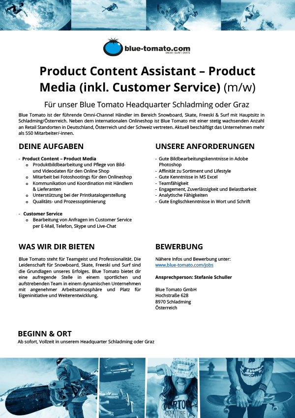 Product Content Assistant - Product Media (inkl. Customer Service) (m/w)