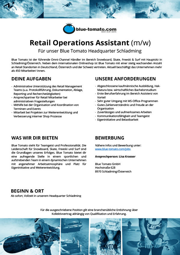 Retail Operations Assistant (m/w)