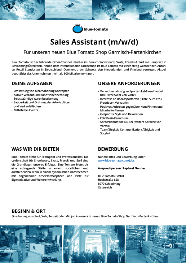 Sales Assistant (m/w/d)