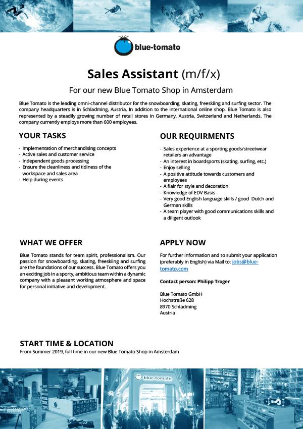 Sales Assistant (m/f/x)