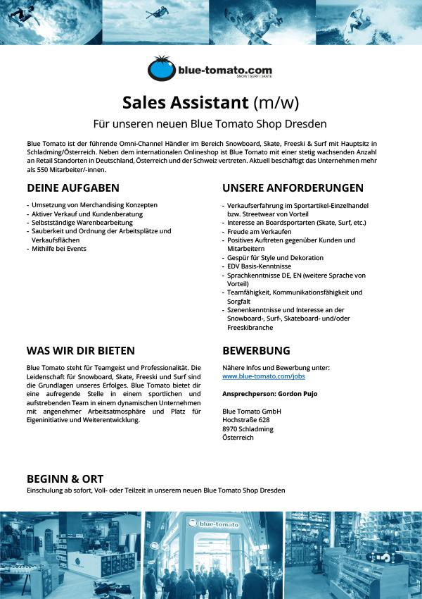 Sales Assistant (m/w)