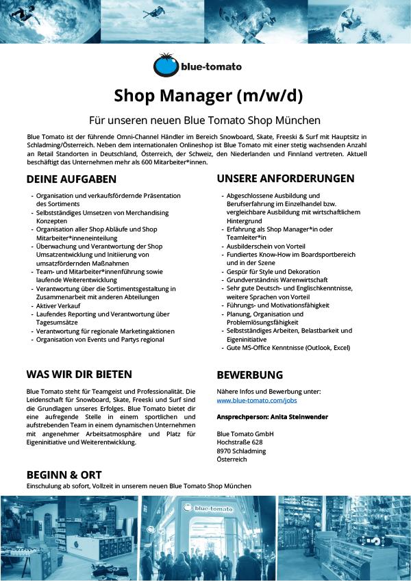Shop Manager (m/w/d)