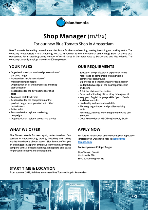 Shop Manager (m/f/x)