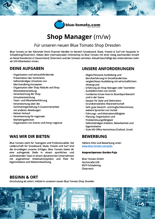 Shop Manager (m/w)