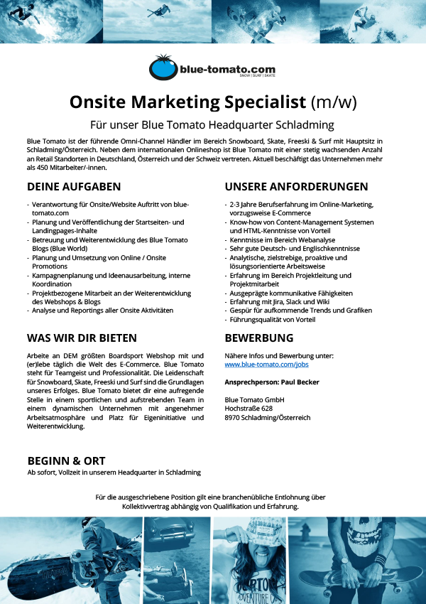 Onsite Marketing Specialist (m/w)