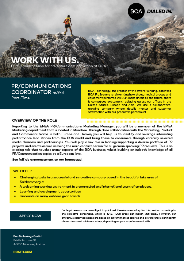 PR/Communications Coordinator (m/f/d)