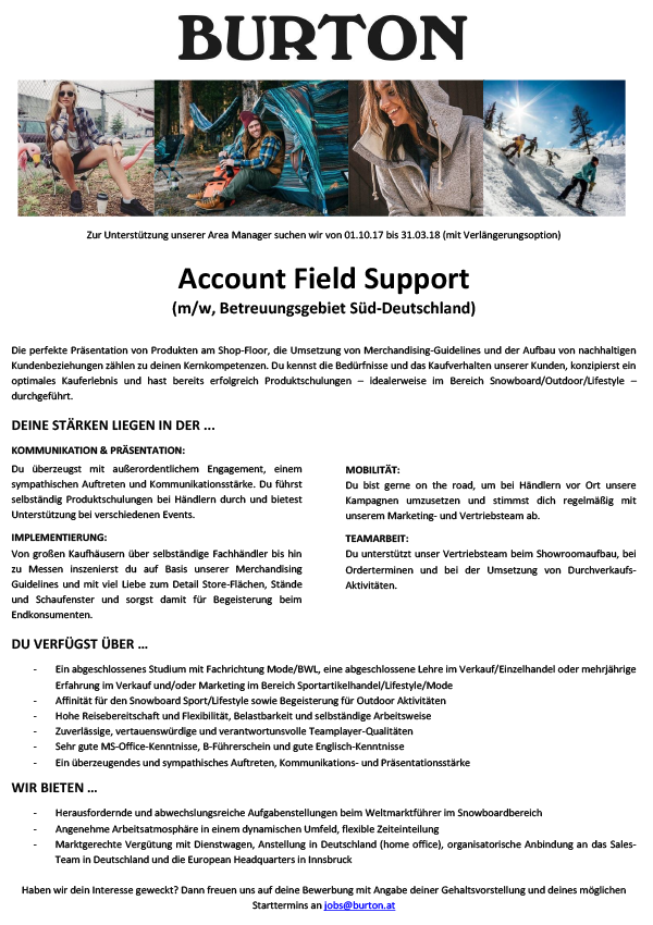 Account Field Support (m/w)