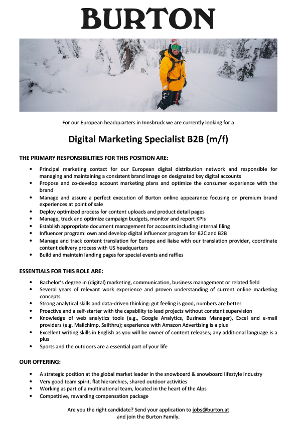 DIGITAL MARKETING SPECIALIST B2B (M/F)